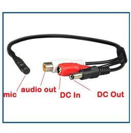 Wholesale Cctv Camera Audio Microphone - Mini Mic Voice Audio Microphone RCA Output Cable for CCTV Security Camera DVRs Mic 100pcs lot
