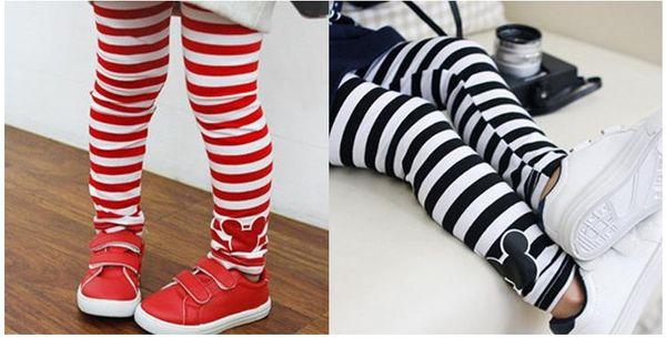 2017 Girl Leggings Kids Bodysuit Pants Children Black And White ...