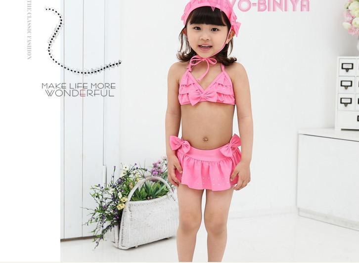 bebê maiô crianças swimwear lindo biquíni fissão nadar Hot perfuração maiô verão desgaste