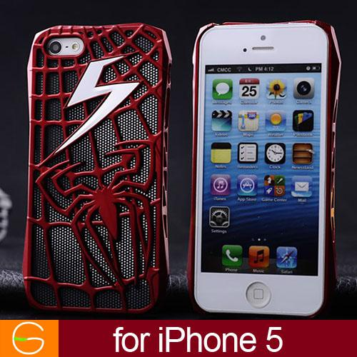 3d Spiderman Electroplate Super Man Case For Iphone 5 5g