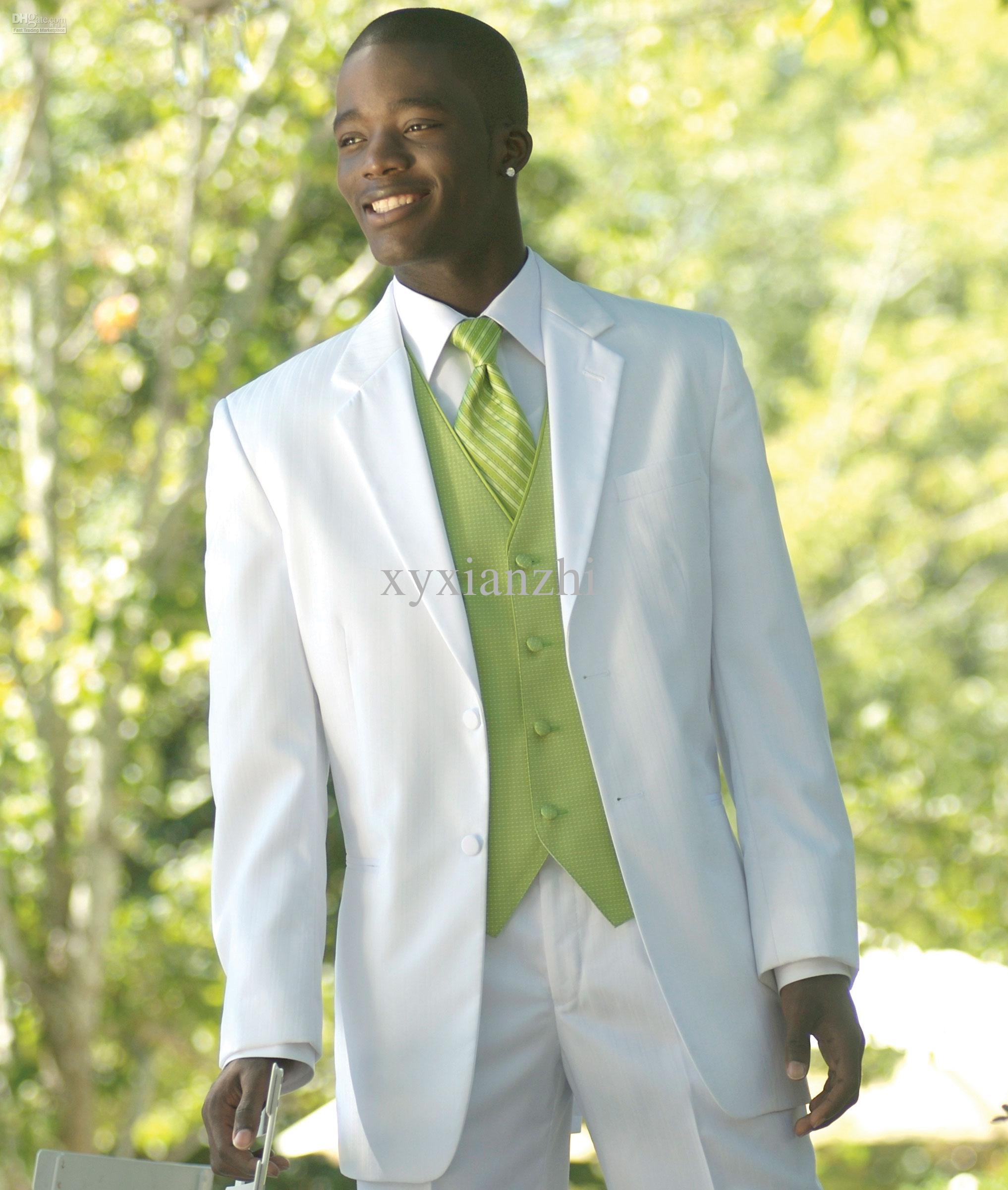 Mens Suits Formal Wear Groom Wedding Tuxedo For Men Suit White Custom Made Fashion Dress Modern Online With 13715 Set