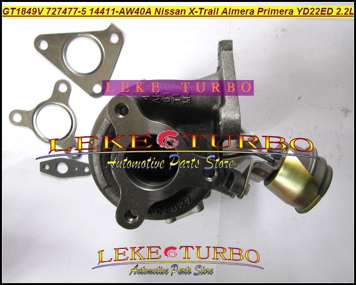 Cartucho Turbo enfriado por aceite CHRA GT1849V 727477-5007S 727477 Turbocompresor para NISSAN Almera Primera X-Trail T30 2003-05 YD22ED YD1 YD22 2.2L