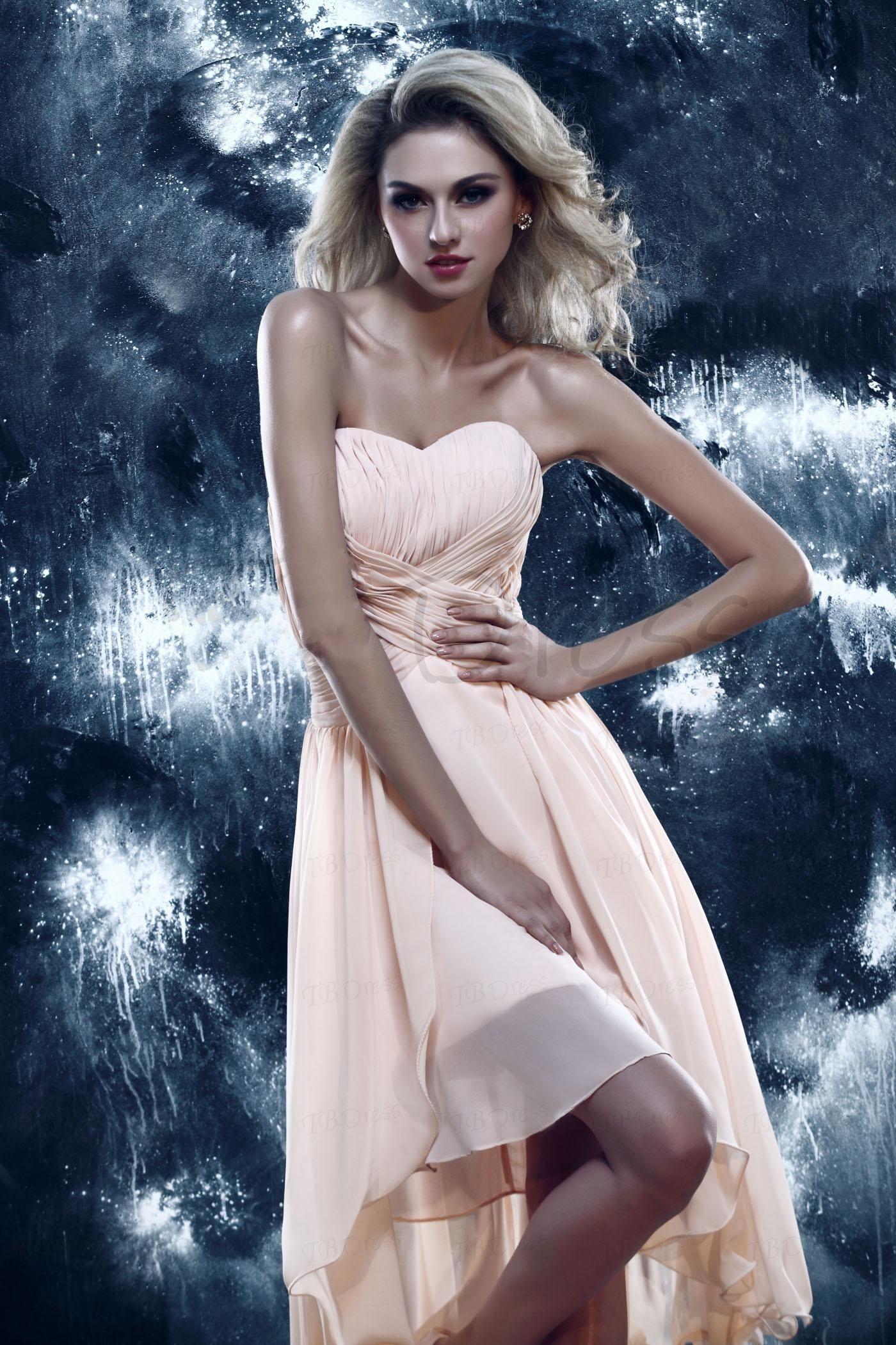 2013 Custom Chic A-Line Sweetheart Dasha's Prom Homecoming Dress Abito da damigella d'onore