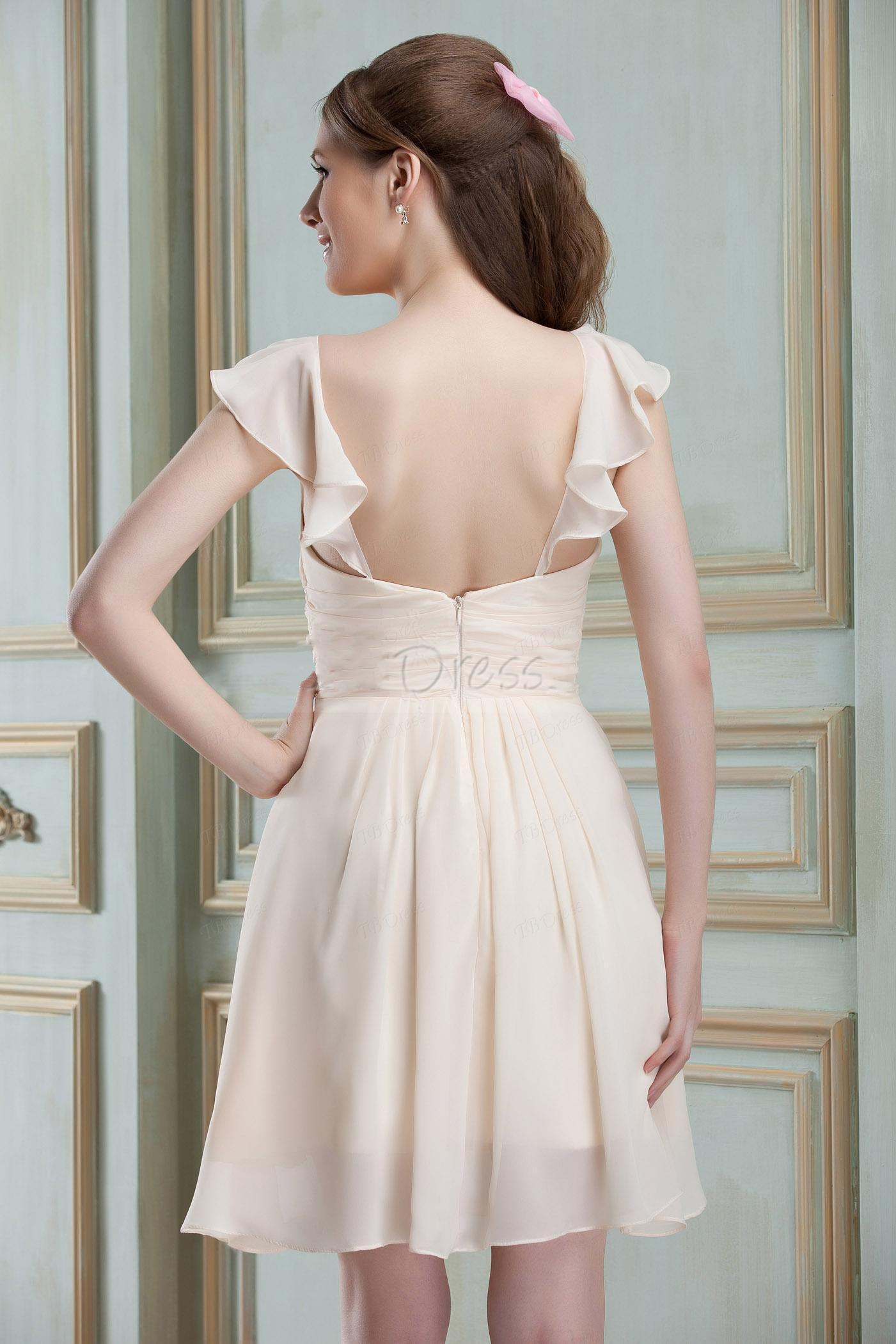 Robe de demoiselle d'honneur A-ligne bretelles de charme personnalisé 2013 court / Mini Nadya