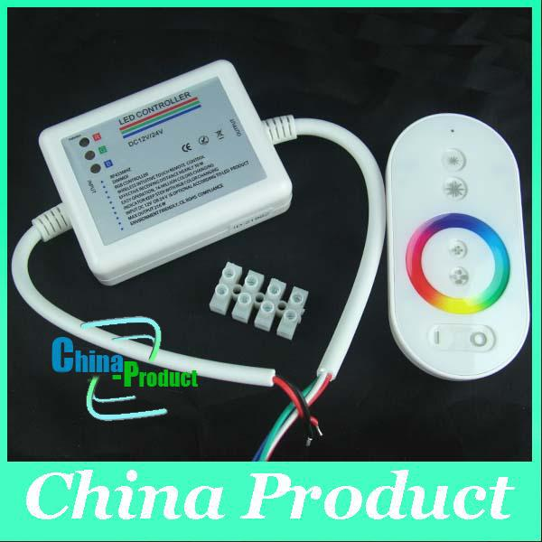 LED RGB DC 12-24V 18 Modes Wireless RF Remote Control Touch Panel Dimmer Remote Controller 000091