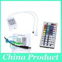 Wholesale Remote Receiver Prices - Best Price LED IR Remote Control Receiver Controller 44 Key 12V For RGB LED Strip Light 000079 50pcs