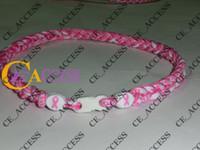 Wholesale Customize Titanium Necklaces - Tornado Titanium breast cancer titanium necklaces pink white can customize necklaces