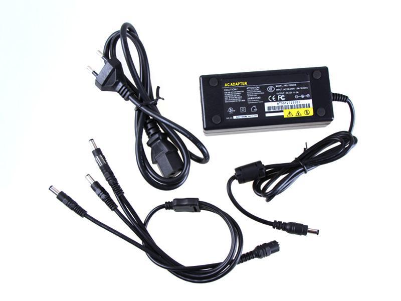 12 V 5A Netzteil 4CH Netzteil CCTV Kamera Netzteil 4 Port DC + Pigtail COAT DC 12 V