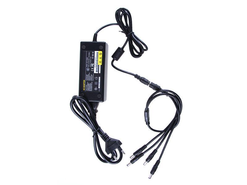12V 5A電源アダプタ4CH電源CCTVカメラ電源ボックス4ポートDC +ピッグテールコートDC 12V