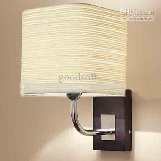 2018 modern minimalist white fabric wall light living room bedroom bedside corridor wall lamp from goodsoft - Lights For Living Room Walls