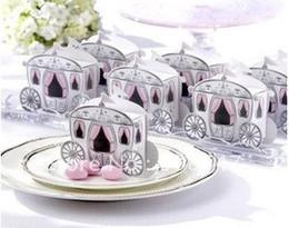 Wholesale Carriage Wedding Favours - 100pcs Carriage Favor Box favour Wedding box pumpkin Carriage wedding box