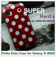 Wholesale Galaxy S Cases Dots - 1PCS Free Shipping New Magic Polka Dots Style Soft TPU Cover Case for Samsung Galaxy S i9000 i9003