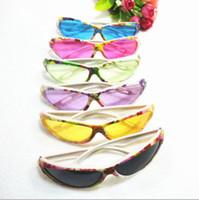 Wholesale Colored Frames Glasses - Kids glasses children colored glasses summer wear glasses candy sunglasses beach sunglass free ship
