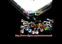 Wholesale Headset Jack Bling - Bling Diamond Anti-Dust Plug dustproof headset Jack for iphone 3GS 4S 5G Ipad touch 4 5 10pcs 20pcs