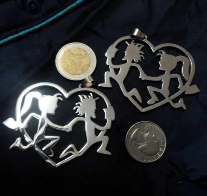 HATCHETMAN Cool silver Killer coppia pendente in acciaio inossidabile charmchain nave libera