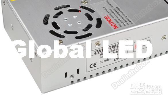 12 V 30A 360 W Interruptor De Alimentação Do Motorista Para luz de Tira CONDUZIDA 3528 smd 5050 smd 5630 smdDisplay110V-240 V