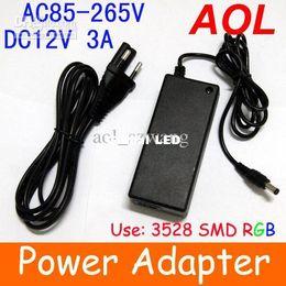 Wholesale Led Light 3a - Power Supply for 5050 3528 SMD RGB led Strip Light 85V-265V AC DC 12V 3A Power Adapter 1pcs lot