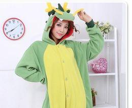 Wholesale Carnival Costumes China - New Kigurumi Pajamas Anime China Dinosaur Cosplay Costume unisex Adult Onesie Hot Dress