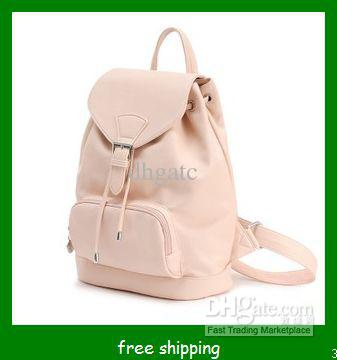 b7e7356a97 PU Bag Backpack New Girl Shoulder Bag PU Leather Fashion Handbag Leisure  Bag New Brand Bag Camping Backpack Backpacks From Dhgatc