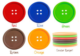 Wholesale Sweet Silicone Cup - NEW Fashion Colourful Button Design Cartoon Cup Mat,Sweet Cup Insulating Pad,Coaster