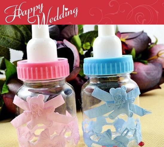 Caixa de doces de casamento 2013 favores do casamento bebê mamadeira do chuveiro de bebê caixa de chocolate partido favor