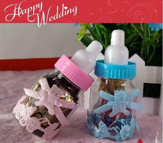Düğün şeker kutusu 2013 düğün iyilik bebek biberon bebek duş çikolata kutusu parti lehine