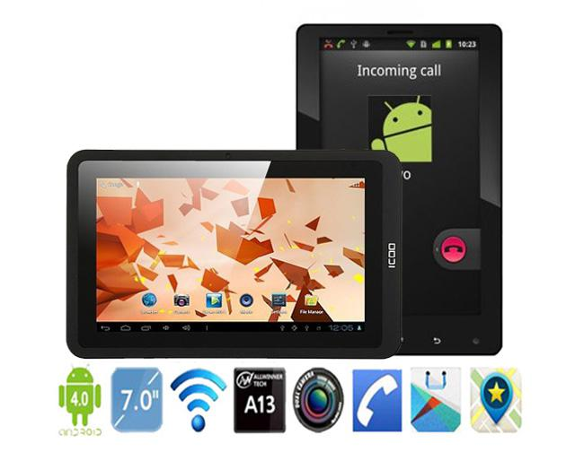 Phone Call Tablet PC 7 inch Allwinner A13 1 2GHz Android 4 0 OS 512MB 4GB  GSM SIM Card