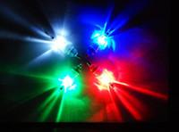 luces rojas bajo el agua al por mayor-5 Unids / lote LED Mini Caída Profunda Pesca submarina Cebo del calamar Señuelo de luz de la lámpara bajo Luz Roja Intermitente