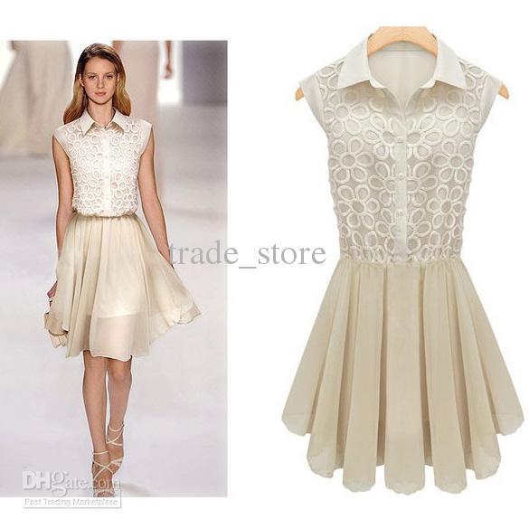 2013 Hot Western Dress Fashion Women Chiffon Dress Pleated Skirts ...
