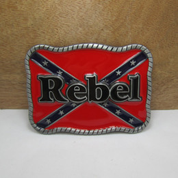 Wholesale Flag Stockings - BuckleHome rebel belt buckle with pewter finish FP-03205 with continous stock free shipping