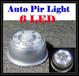 Wholesale Motion Detector E27 - New Arrival Auto pi led light Sound Sensor Light lamp Infrared 6 LED Light Lamp Motion Detector