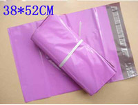 Wholesale Mailbag Plastic Envelope - 38*52CM Fuchsia Self-seal Mailbag Plastic Envelope Courier Postal Mailing Bags High Quality 9026