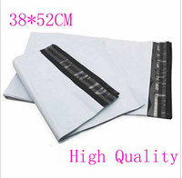 Wholesale Mailbag Plastic Envelope - 38*52CM White Self-seal Mailbag Plastic Envelope Courier Destructive Postal Mailing Bags 9030