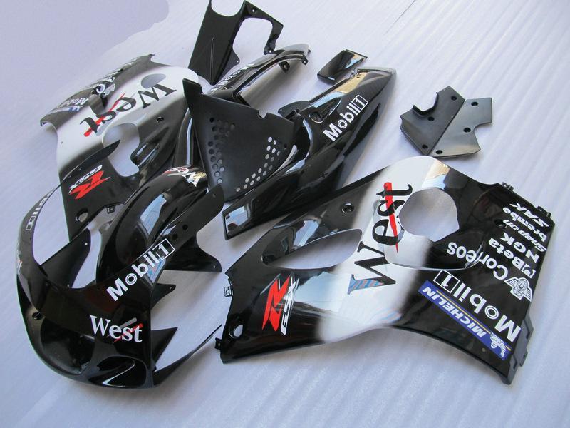 west fairing kit for suzuki gsxr 600 750 1996 1997 1998 1999 2000