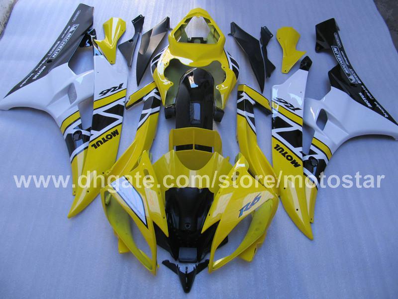 Fairing for YAMAHA YZF-600 R6 06 07 YZF-R6 YZFR6 2006 2007 fairing Blue White 66M25