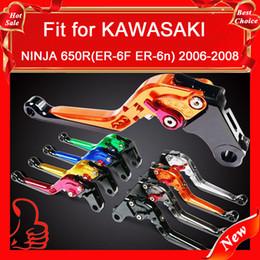 Wholesale Ninja Lever - NEW Foldable & Extendable&Adjustable BRAKE LEVERS NINJA 650R(ER-6F ER-6n) 2006-2008 For KAWASAKI
