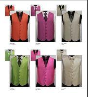 Wholesale Satin Vest Wholesale - TOP-grade Fashion men Custom any colour satin groom vest men vests bridegroom vest of 3pcs lot
