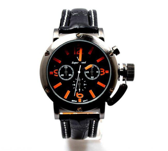O relógio de quartzo dos homens Inoxidável de 2 cores V6 olha o aço luxuoso brilhante da correia do plutônio do relógio do luxo