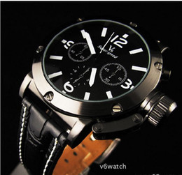 Wholesale Sport Quartz Japan Movt - USA Hot sale Men's Quartz Analog Wristwatch,Leather Strap Sports Watch,Luxury Japan Movt V6 watch