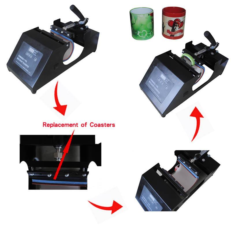 Nuovo design 4 in 1 macchina da stampa digitale Tazza / Tazza Macchina da stampa con tazza di caffè combinata di alta qualità omologata CE, economico trasferimento di calore