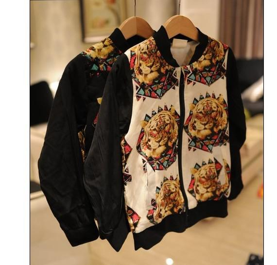 top popular Boys And Girls tiger Jackets Handsome Punk Coats Tops Children's Clothing 2021