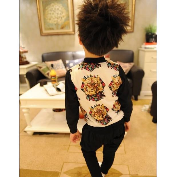 Garçons et Filles Vestes Tiger Handsome Punk Manteaux Tops Vêtements Pour Enfants