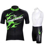 меридиновая майка оптовых-Оптовая 2016 Мерида зеленый велоспорт Джерси езда на велосипеде велосипед одежда велосипед одежда с коротким рукавом ropa ciclismo Майо быстро сухой