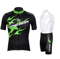 jersey verde de merida al por mayor-Comercio al por mayor 2016 Merida verde ciclismo jersey montar bicicleta ropa de la bicicleta desgaste de manga corta ropa ciclismo maillot de secado rápido