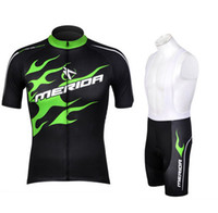 maillot vert merida achat en gros de-En gros 2016 Merida vert cyclisme jersey équitation vélo vêtements vélo usure à manches courtes ropa ciclismo maillot À Séchage Rapide