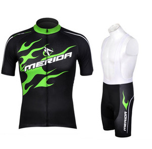 Wholesale Merida green cycling jersey riding bike clothing bicycle wear short sleeve ropa ciclismo maillot Quick Dry