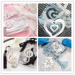 Marcapáginas de regalo de boda favorece 10 estilos diferentes favor de boda marcador orden mezclada en venta