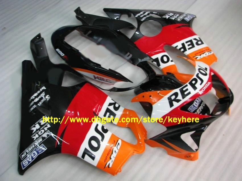 ABS Verkleidung für CBR600 F4 1999 2000, CBR-600 F4 99 00 Motorrad Verkleidung, freie Windschutzscheibe