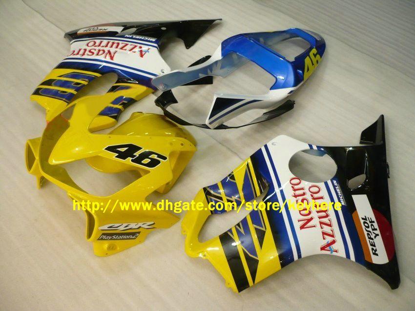 ホンダCBRF4I CBR600 F4I 2001 2002 2003 2003 01-03 NASTO Azzurroフェアリングモトサイクルボディワーク