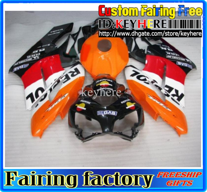 Для HONDA CBR1000RR 2004 2005 CBR 1000 RR 04 05 Repsol обтекатель комплект, мотоцикл кузов